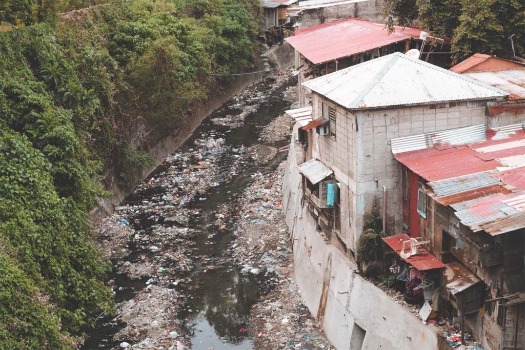 garbage in one of rivers in Cebu