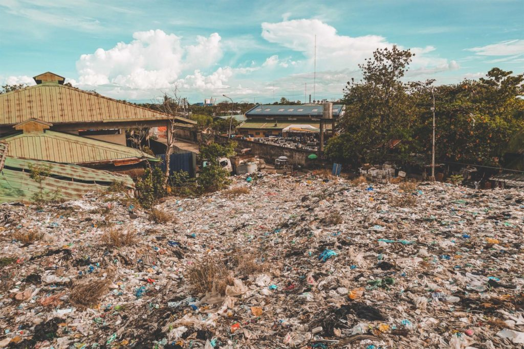 mountain of trash in Greenfield Inayawan, Cebu City